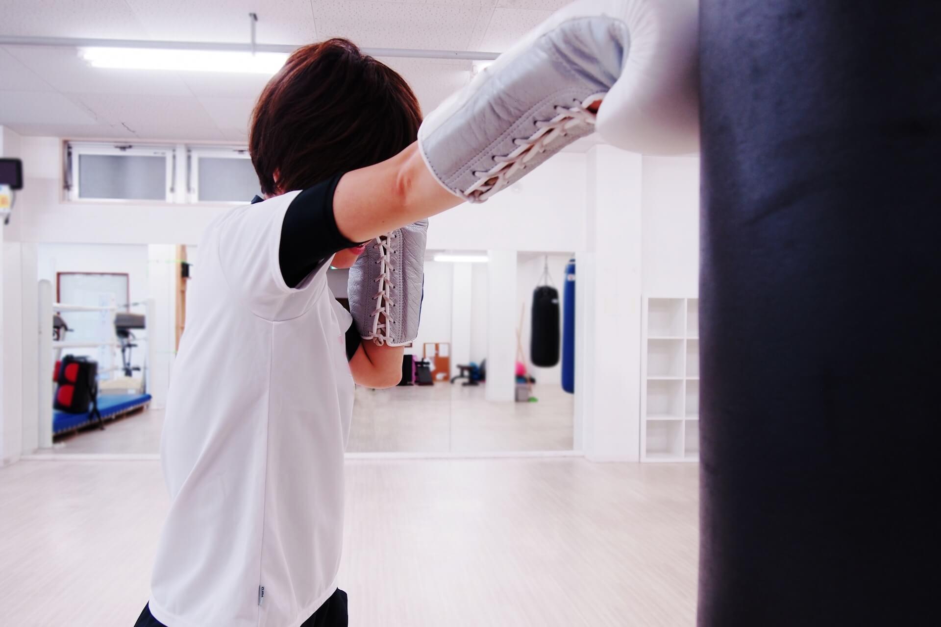 ボクシングジムの風景の写真