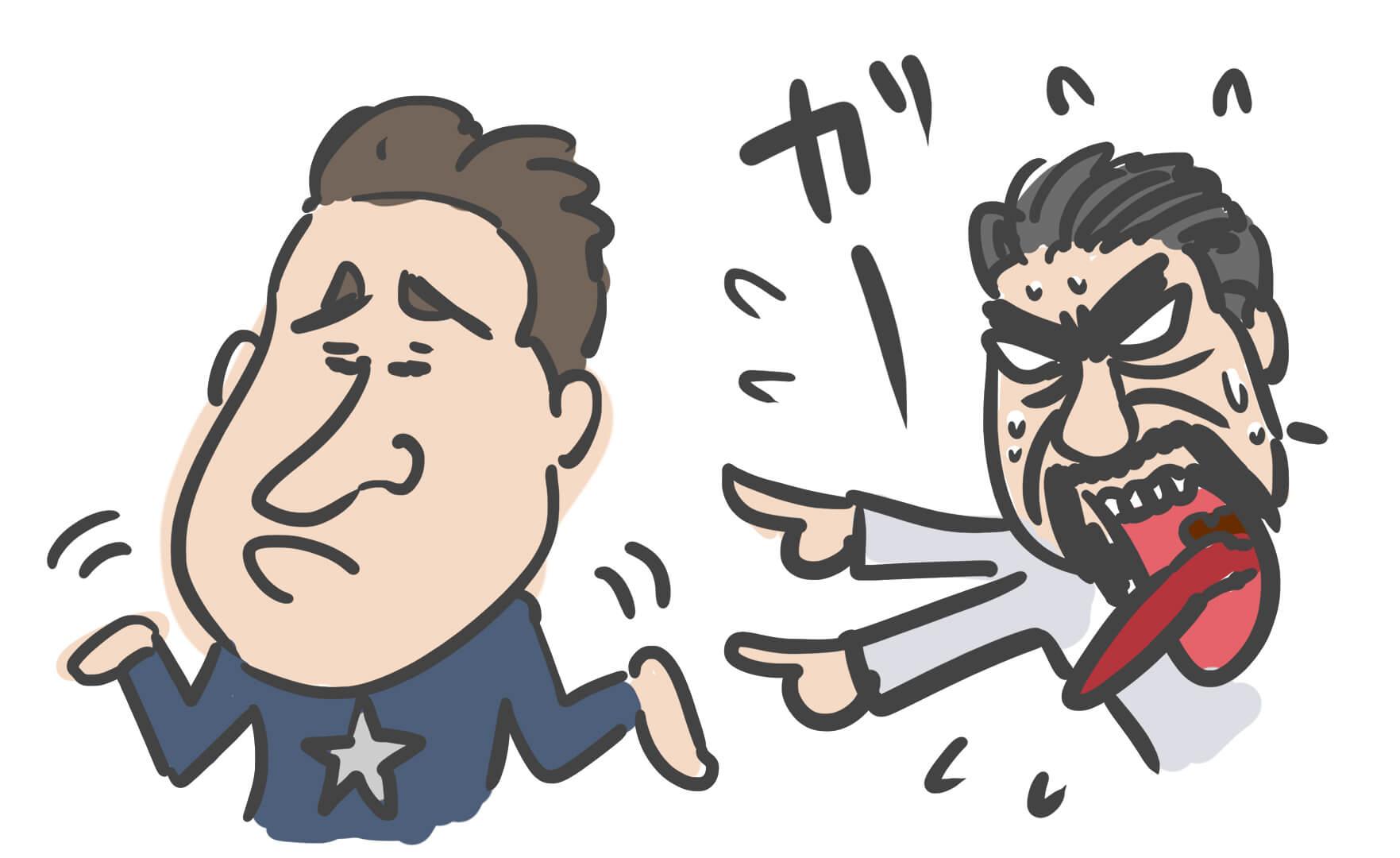 スティーブとトニーのいざこざイラスト