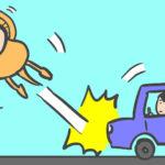 車で人を轢いてしまうイラスト
