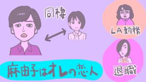 映画『パラレルワールド・ラブストーリー』相関図のイラスト