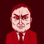 映画『ゴジラ キング・オブ・モンスターズ』のキャラクター・芹沢博士のイラスト