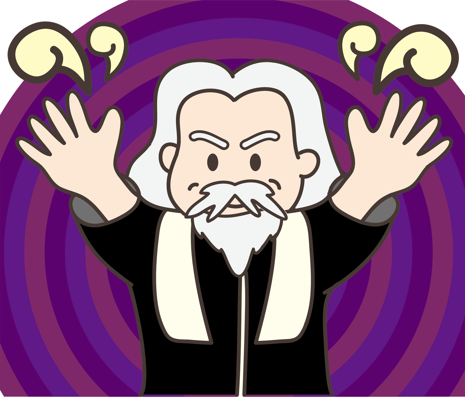 催眠術師のイラスト