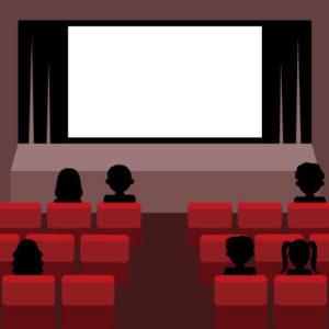 映画館内のイラスト