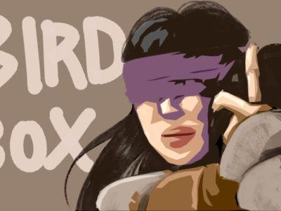 映画『バードボックス』のイラスト