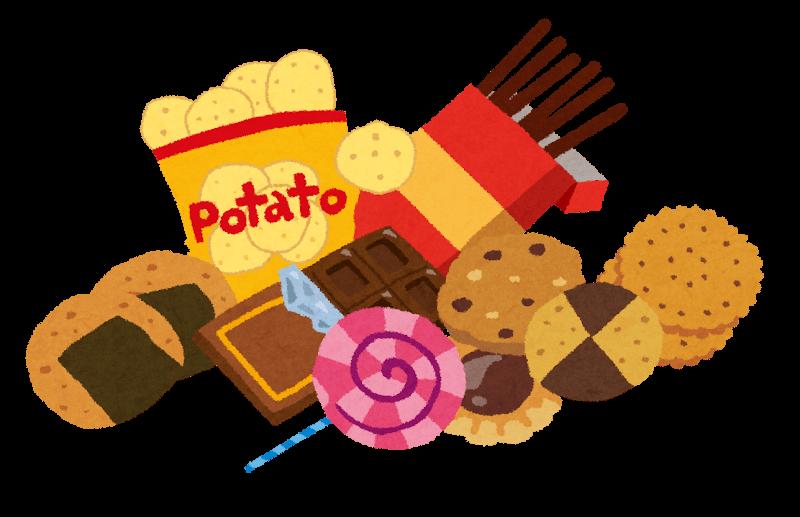 スナック菓子のイラスト