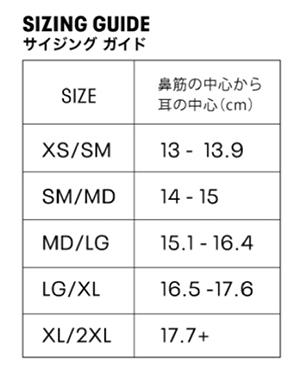 アンダーアーマー公式サイトのサイズ表