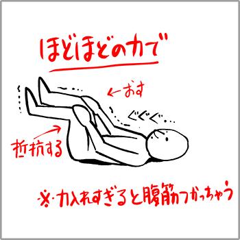 腸腰筋のストレッチをしている様子のイラスト