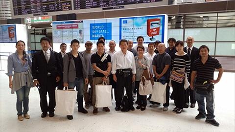 2014空道アジアカップでの塾長と選手団